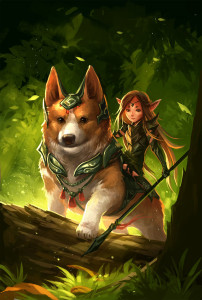 corgi_and_fairy_by_sandara-d5vh6by (1)
